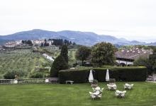 Una vista dal belvedere della villa