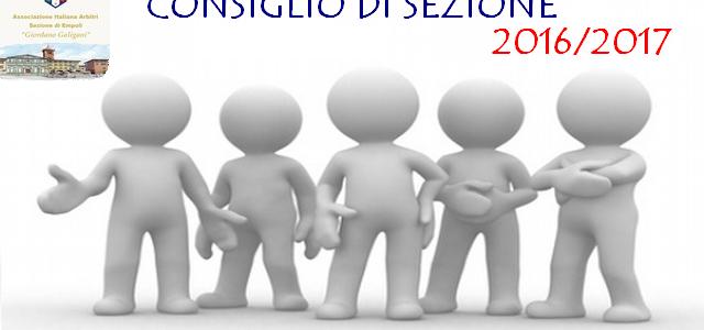 UFFICIALIZZATO IL CONSIGLIO DI SEZIONE PER LA STAGIONE 2016/2017