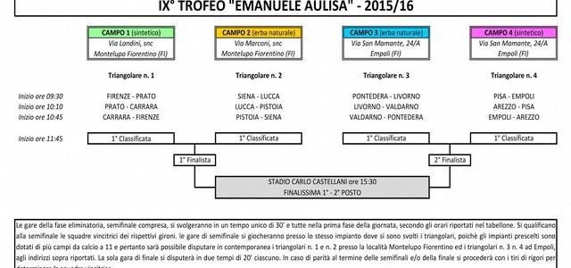 "IXª Edizione Memorial ""EMANUELE AULISA"""